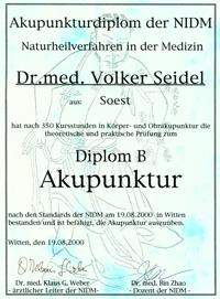 Akupunktur-Diplom